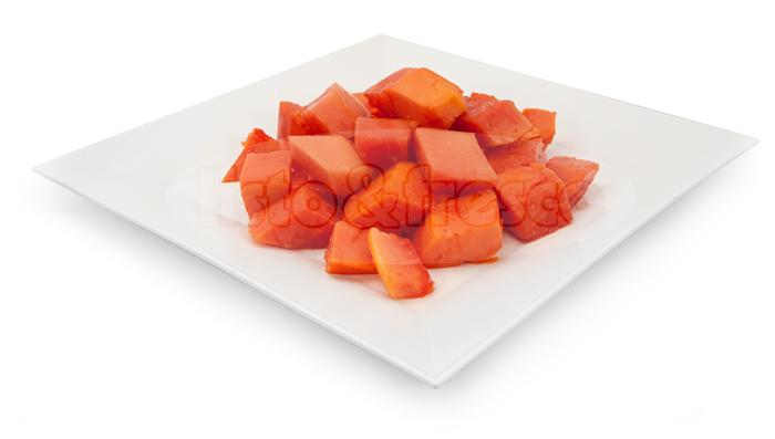 listo y fresco producto-congelado papaya
