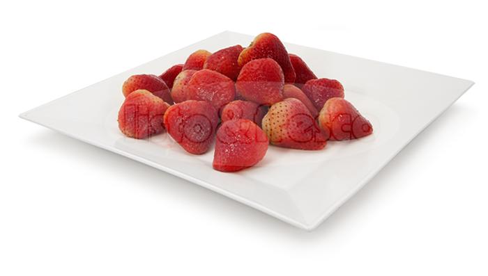 listo y fresco producto congelados frutos fresas strawberry frozen